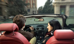 Honeymooning in Italy? Register for an excursion through the streets of Italia in a sporty red convertible!