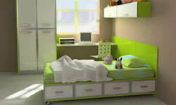 Kids' rooms should be neat and clean, emphasizing features like windows and desk space.