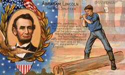 An 1860 postcard celebrating Lincoln's election.