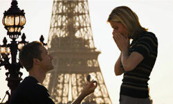 """If he proposes in Paris, remember to say """"oui"""" instead of """"yes."""" See pictures of diamond engagement rings."""