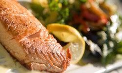 Fish rich in omega-3 fatty acids, like salmon, are great brain food.