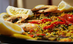 Seafood paella is on the menu at Icknield High.