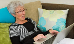 Boomers turn to the Internet for their news practically as much as any other age group.