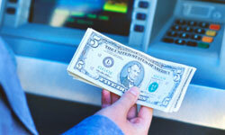 Depositing cash directly into an ATM allows banks to reuse the bills that same day.