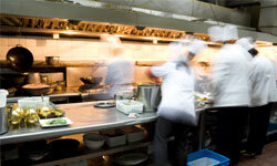 In-house catering means an overworked kitchen staff.