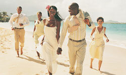 A destination wedding combines the sweetness of a ceremony with the fun of a sunny vacation.