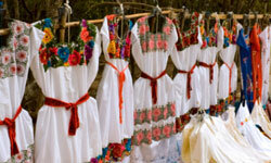 At a market in Mexico, you might just find a sweet off-the-rack white dress.
