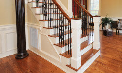 Trim doesn't just belong on walls and floors. It can be used on staircases, too.