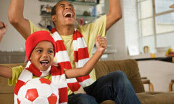 After watching their sports heroes on TV, children are likely to want to get out on the field and imitate them.