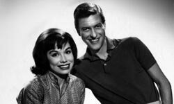 Mary Tyler Moore (who played Laura Petrie) with TV husband Dick Van Dyke.