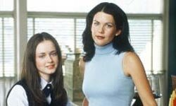 "Alexis Bledel (left) and Lauren Graham played daughter and mother in the TV series ""The Gilmore Girls."""