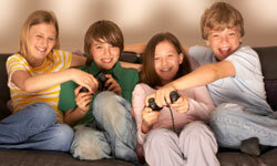 Tweens love battling their friends at video games.