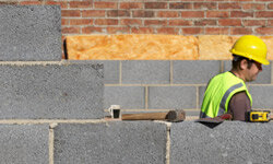 Polystyrene is used to make concrete blocks. The expanded version can be incorporated into a type of insulation.