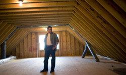 Spray polyurethane can be used to insulate attics.