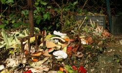 This compost pile will yield nutrient-rich material for your garden.