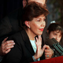 Linda Chavez withdraws her name from consideration for labor secretary in January 2001.