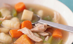 Gnocchi is great for soup -- chicken noodle soup.