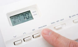 Green your home and cut your utility bills with a programmable thermostat.