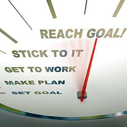 Setting goals is one thing. Actually achieving them is another. Making small, short-term goals can help achieve a larger, long-term change.