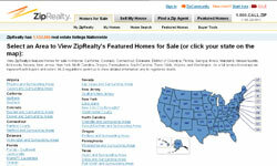 ZipRealty.com pulls in Google Map data and displays homes recently sold and homes for sale on the map.