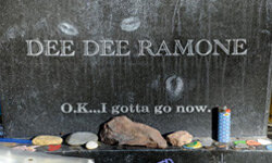 Fans pay tribute to Ramones bassist Dee Dee Ramone at the Fifth Annual Johnny Ramone Tribute in October 2009.