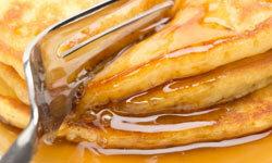 Pancake and fork