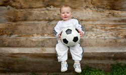 It's never too early to start playing soccer.