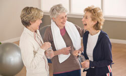 Many assisted living facilities offer exercise centers and even classes for residents.