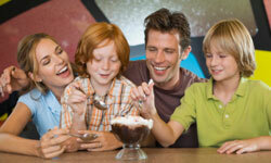 Give your athletic family a break -- but just once a week -- for some high-caloric fun.