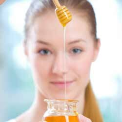 Certain food items, such as honey, are used in many skin care products.