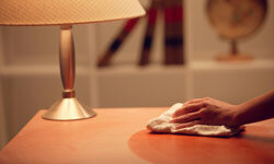 Keep your furniture dusted to reduce pollen levels inside your home.