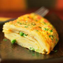 Tortilla Española can be served warm or at room temperature.