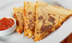 You can put just about anything in a quesadilla and it'll taste great!