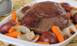 Cook a large pot roast so you'll have leftover meat for another dish later in the week.
