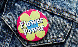 Perhaps you could make flower power buttons for your guests!