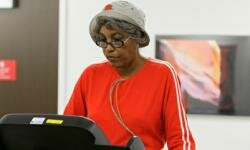 Dorothy Roberts exercises on a treadmill during a cardiac rehabilitation class at the Cleveland Clinic in Cleveland.