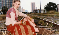 Think long flowing skirts and peasant shirts for this look.