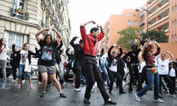 """The Mexico City """"Thriller"""" flash mob has had plenty of competition for its world record, including this performance, which took place in Paris in April 2011."""