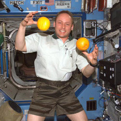 Even astronauts in space like to keep their skin taut with citrus fruits.