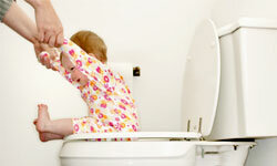 Don't flush away a baby's chances for healthy development with premature potty training.