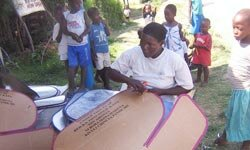 Solar cookers are inexpensive and simple to make -- most require only cardboard, foil and a pot.