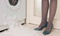 If you don't use HE detergent, suds will overflow from your HE machine.