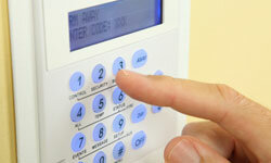 A well-advertised alarm system may deter a thief from entering your home.