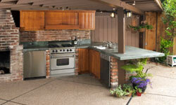 Outdoor kitchens are the ultimate for those who like to entertain.