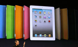 For added protection (and style!), the Apple iPad 2 is available with a variety of different-colored case protectors.