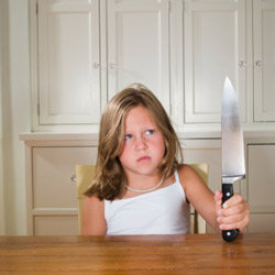 Your child has no idea how to handle a knife properly. So, keep them out of reach.