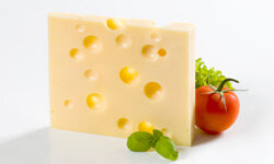 While some cheeses are loaded with sodium, Swiss cheese comes in at a modest 75 mg per slice.