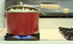 Popping your own popcorn at home is a great, low-sodium alternative to super-salty, store-bought popcorn.