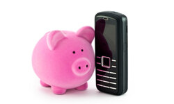 How can you keep your private information safe while mobile banking? See more banking pictures.