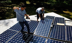 Sometimes an investment in green technology -- like solar panels -- saves money in the long run.